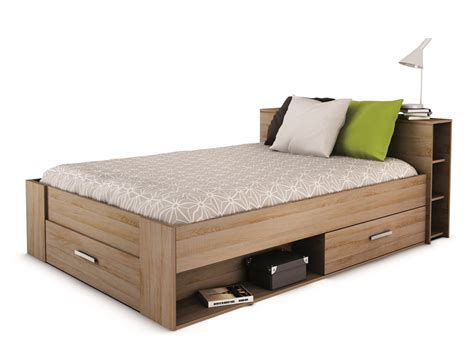 lit adulte avec rangements lit adulte 140 rangement tiroir blanc ch 234 ne clair moderne