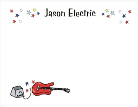 thank you letter guitar electric guitar theme stationery thank you cards by the