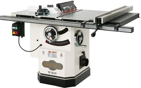 best value cabinet table saw shop fox w1819 and w1824 comparison review pro vs homepro
