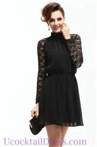 Black cocktail dresses long sleeves long dresses online