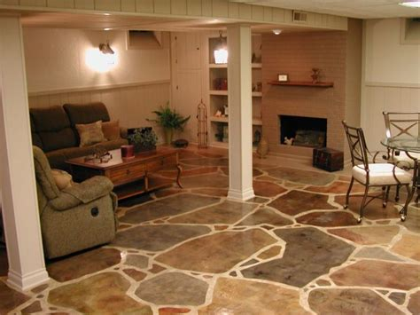 how to stain a concrete basement floor 1000 ideas about concrete basement floors on