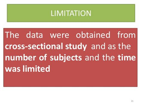 limitations of cross sectional studies association between obesity and eating pattern slides
