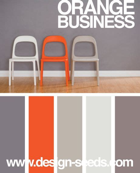 grey office paint palette orange grey orange and kitchen colors on pinterest