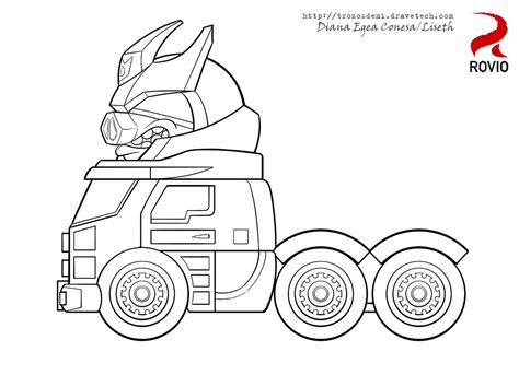coloring pages transformers angry birds angry birds transformers galvatron by liseth on deviantart