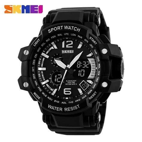 Jam Tangan Casio Rantai Analog Digital Pria Aw 80d 1a2v Original skmei jam tangan analog digital pria ad1137 black white jakartanotebook
