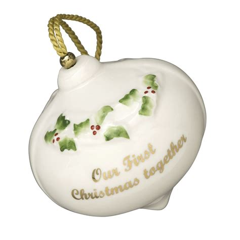 our first christmas ornament 2016 belleek ornaments