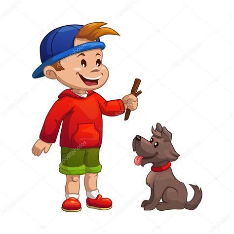 imagenes de niños jugando con un perro ni 241 o jugando con perro archivo im 225 genes vectoriales