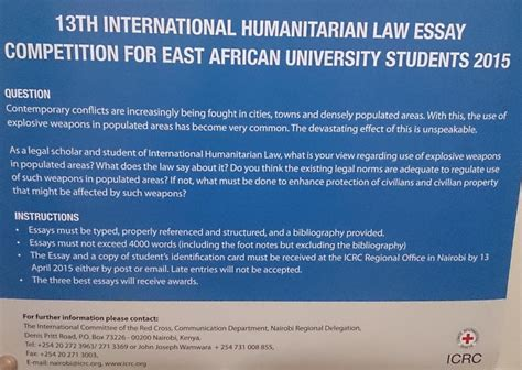 Studies And Essays On International Humanitarian And Cross Principles by 13th International Humanitarian Essay Competition For East Students 2015