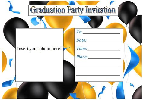 graduation invitation card template word graduation invitation templates