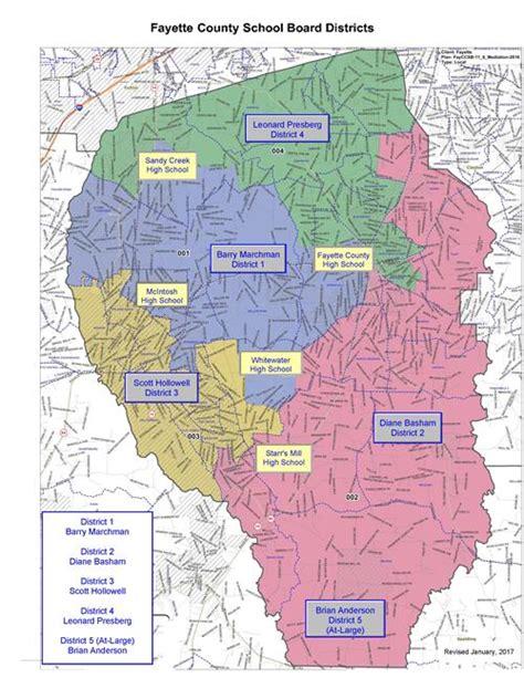 Fayette County Ga Records Board Member District Map Board Member District Map