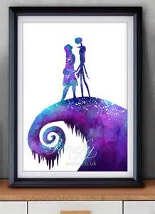 nightmare before colors the nightmare before and sally watercolor