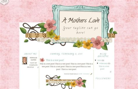 cute blog layout design a mothers love blogspot template the cutest blog on