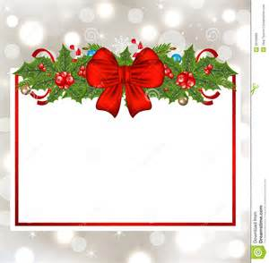 christmas elegant card with holiday decoration royalty