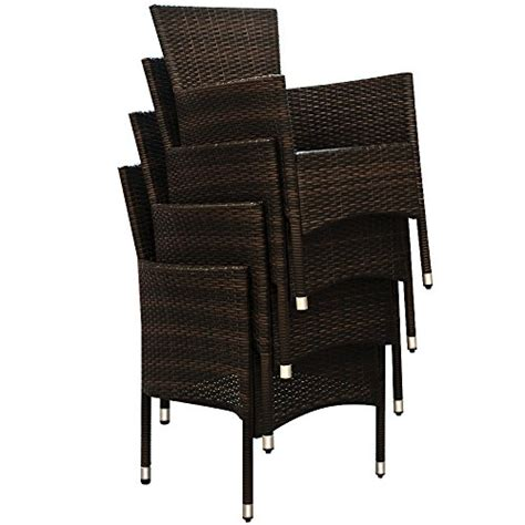 Rectangular Glass Top Dining Table Sets Rattan Garden Furniture Dining Table Set Rectangular Glass Top Stackable Chairs Patio