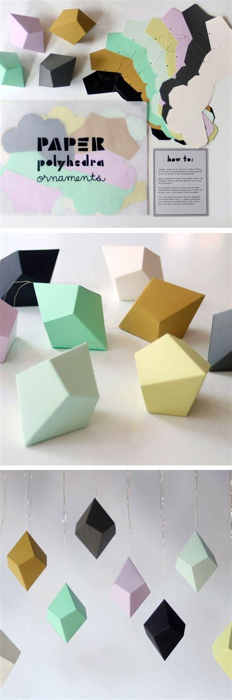 diy paper ornaments diy decorideas geometric paper diy geometric polyhedra