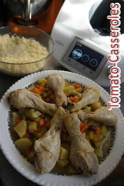 Gagner Un Thermomix 2016 by Poulet Fa 231 On Tajine Au Thermomix Tomato Casseroles