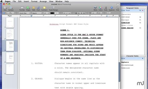 brokensea bbc radio script template for mac free