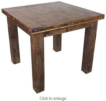 counter height bistro table square rustic wood counter height bistro table with iron