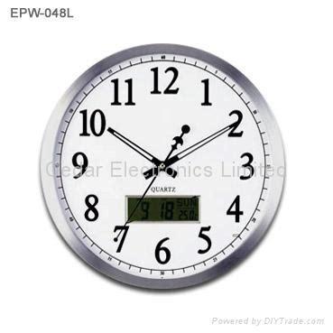 analog and digital wall clock metal analog wall clock with digital calendar epw 048l