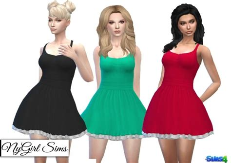 open cross back dress with bow at nygirl sims 187 sims 4 updates open cross back dress with bow at nygirl sims 187 sims 4 updates