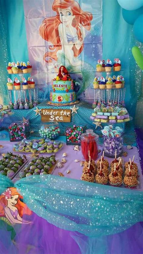 under the sea candy table little mermaid party under the sea candy table caramel