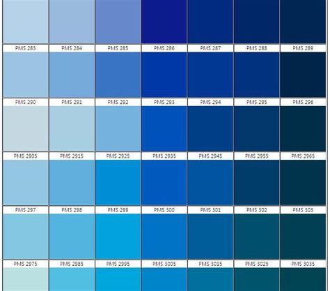 shades of blue color chart pantone blues search szabo maternity summer