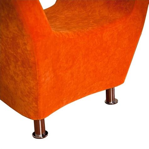 Accent Club Chairs by Trent Home Colleen Upholstered Accent Club Chair In Orange