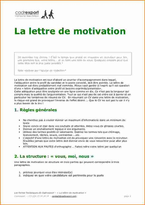 Lettre De Motivation De Frigoriste exemple lettre de motivation candidature spontan 233 e