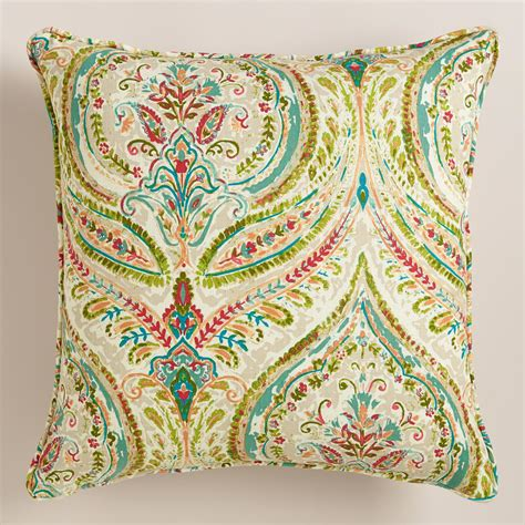 paisley throw pillows for couch multicolor paisley ogee throw pillow world market