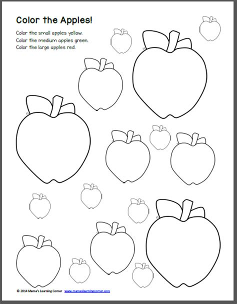 Apple Preschool Worksheets