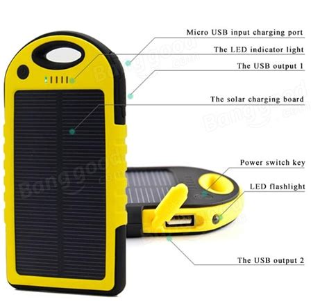 Power Bank Solar Waterproof waterproof solar power bank a great apple iphone