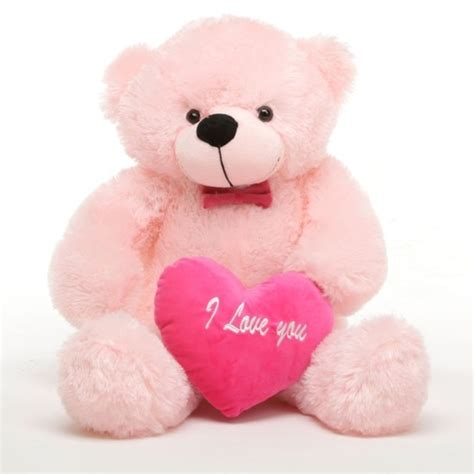 images of love teddy bear lady l cuddles 30 quot pink teddy bear w i love you heart