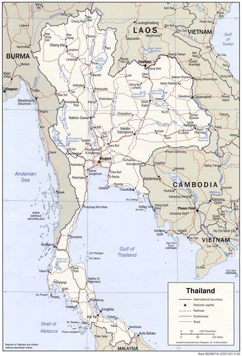 printable map thailand maps of thailand