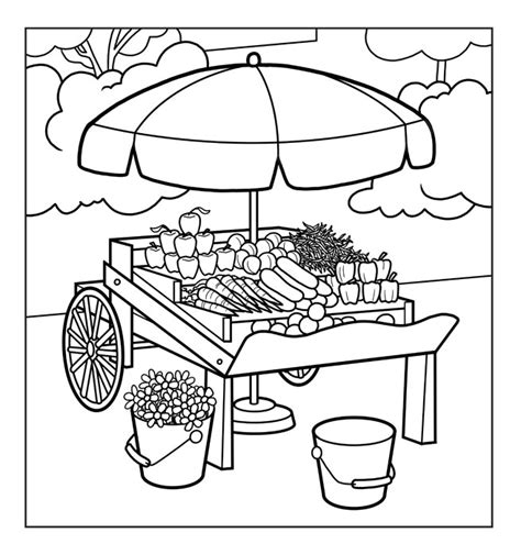 to market to market coloring pages