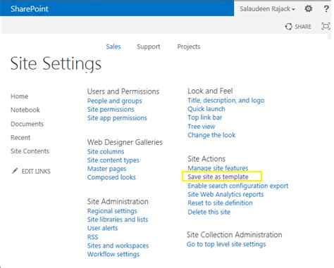 sharepoint save as template save site as template in sharepoint 2013 using powershell