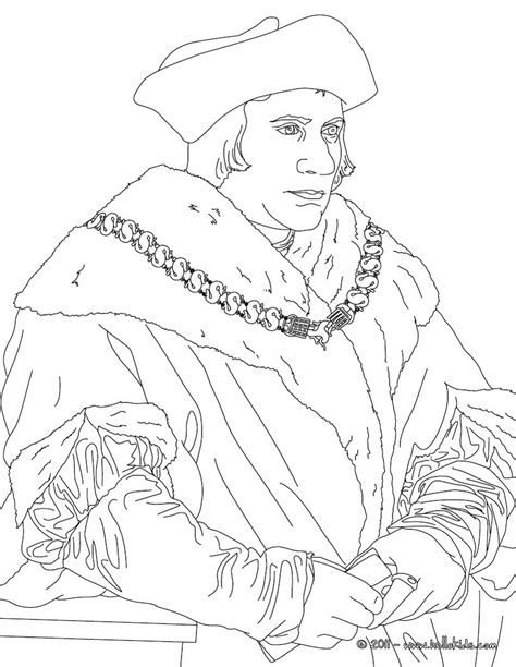 Sir Thomas More Coloring Pages Hellokids Com More Coloring Pages
