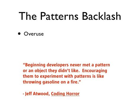 visitor pattern overuse design patterns reconsidered