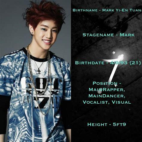 got7 visual got7 mark great i like korean chinese japanese and