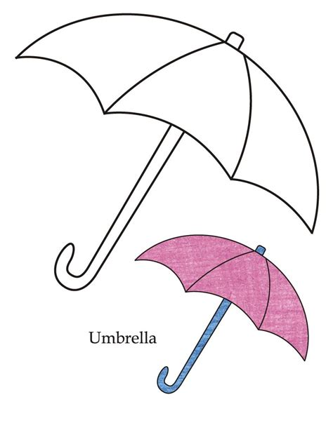 umbrella pattern to color free coloring pages of umbrella