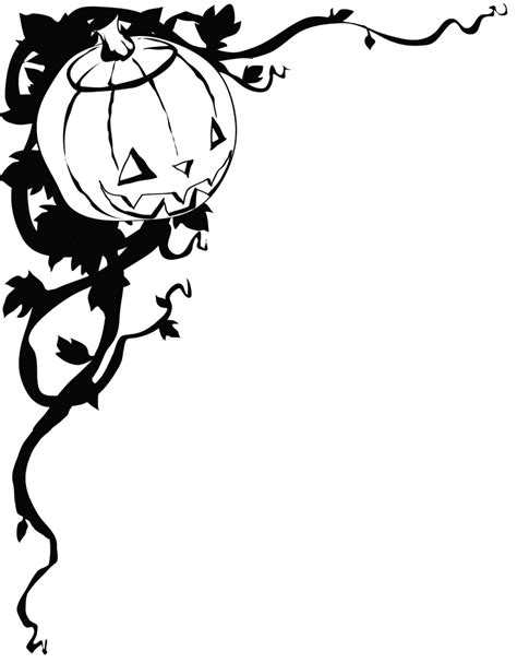 printable halloween decorations black and white halloween border black and white free clipart images
