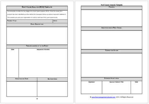 Root Cause Analysis Template Doliquid Cause Mapping Template Excel