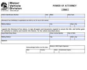 download arizona motor vehicle power of attorney form for