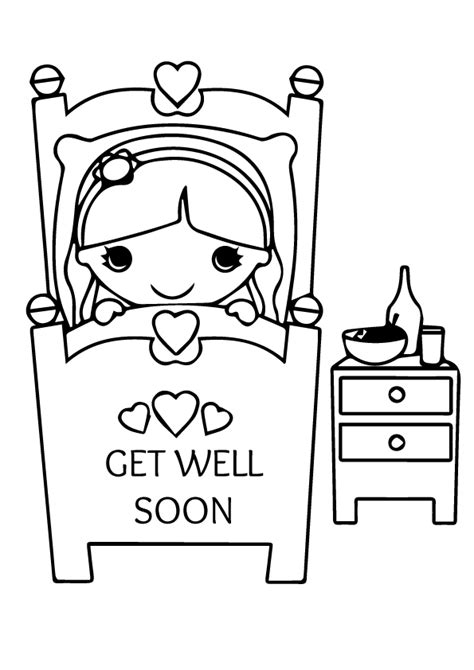 well coloring page coloring pages get well soon sheet