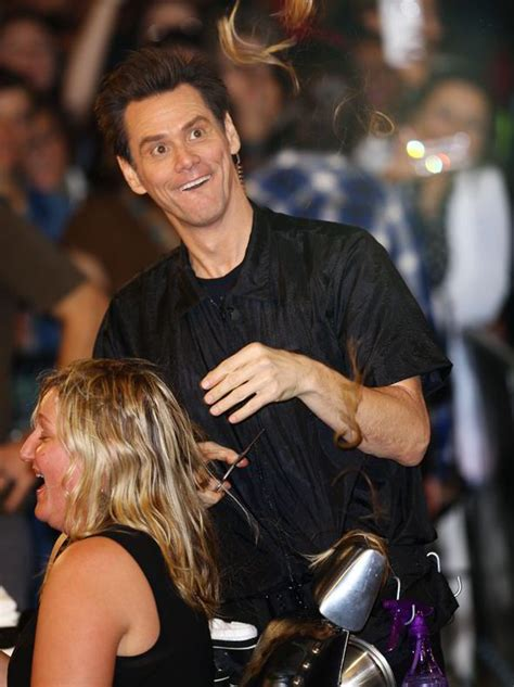 jimmy kimmel hair styles jim carrey gives woman a dumb and dumber shaves a woman s