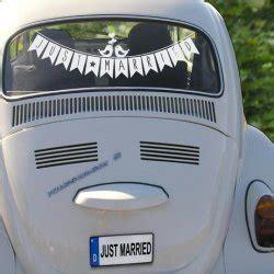 Just Married Autodeko by Autodeko Hochzeit Infos Tipps Und Bastelanleitung