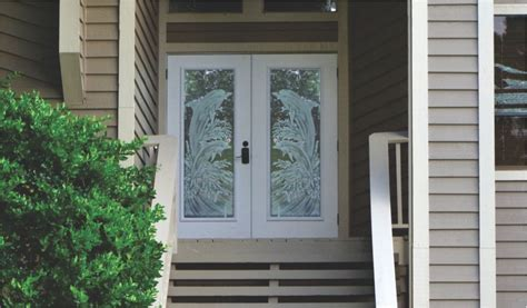 Impact Glass Entry Doors Dolphins Etched Glass On Hurricane Impact Glass Entry Doors