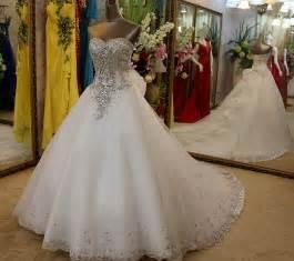 princess wedding dress with diamonds long hairstyles