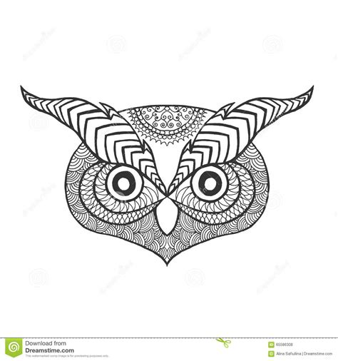 owl head coloring page the gallery for gt indian head sketch
