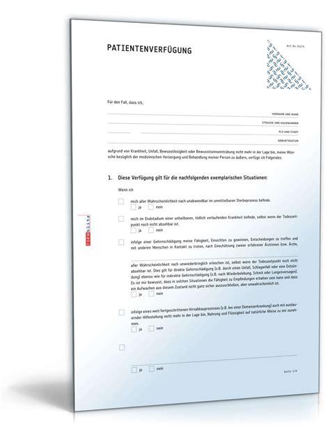 Muster Vorsorgevollmacht Vorlagen Paket Vorsorgevollmacht Muster Zum