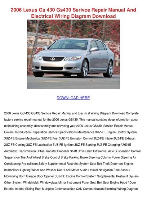 repair windshield wipe control 2006 lexus gs auto manual 2006 lexus gs 430 gs430 serivce repair manual by trinh bohmer issuu
